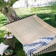 Island Bay 13 ft. Taupe Quilted Double Hammock