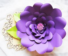 Paper flower Printable templates Giant by CatchingColorFlies
