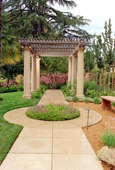 Nice arch for a Greek revival house's garden