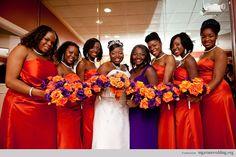 wedding colors for fall 2014 | Nigerian wedding burnt orange bridesmaids dresses S67 Photography