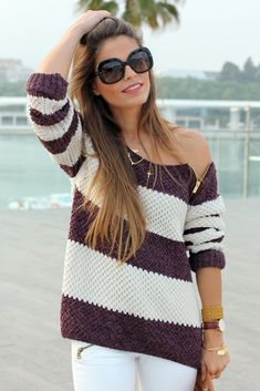 To find out about the Coffee White Striped Long Sleeve Zipper Sweater at SHEIN, part of our latest Sweaters ready to shop online today! Passion For Fashion, Love Fashion, Fashion Beauty, Womens Fashion, Knit Fashion, Style Fashion, Perfect Brunette, Looks Style, My Style