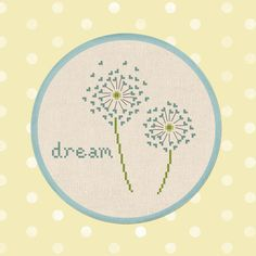 Dandelion Dream Cross Stitch Pattern. PDF Instant by andwabisabi