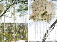 Hung from the trees! Photos: Samuel Lippke Studios. Wedding Coordinator: Thomas Bui Lifestyle. Florals: Adorations Botanical Artistry.
