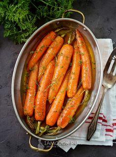 Рецепт молодой моркови в апельсиновой глазури