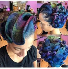 The creativity in this hairstyle is everything ❣️