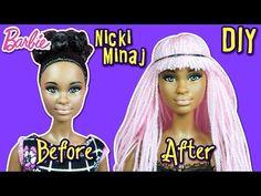 Nicki Minaj Hair Tutorial for Barbie Doll - How to Reroot Barbie Hair - DIY - Making Kids Toys - YouTube