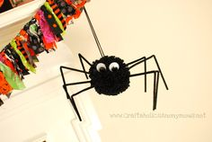 this spider is made out of a t-shirt!