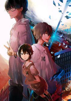 Zankyou no Terror fan art: Terroristic Trio