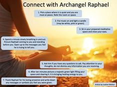 "This infographic was inspired by ""Guided Meditation to Connect with Archangel Raphael"" article written by Reiki Master Justine Melton. Click the image to see it in full size, then click Back in your browser to return here. Enjoy, Love, Fly! Related"