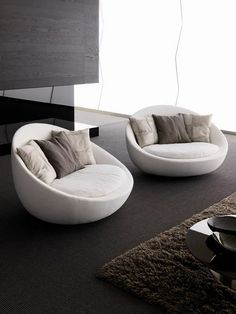 Live These Round Chairs Again Acolor Would Be Nice Modern Living Room Sofa Lacon By Desiree Divano