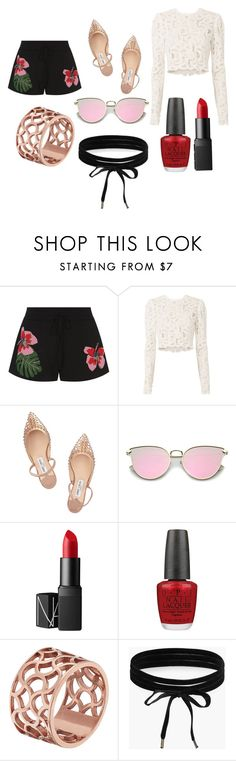 """""""Fancy Beach Vibes"""" by rojoubdalia on Polyvore featuring Valentino, A.L.C., Jimmy Choo, NARS Cosmetics, OPI, Tartesia and Boohoo"""
