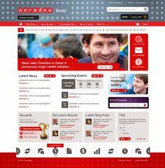 Ooredoo intranet on SharePoint 2010