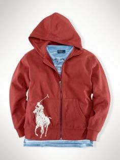 Big Pony Full-Zip Hoodie Red Pepper