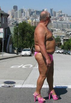 At least his shoes match the undies.