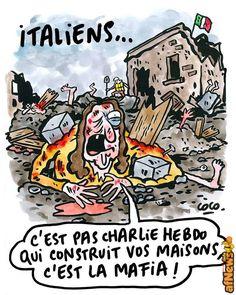 """Charlie Hebdo e il """"terremoto all'italiana"""" - http://www.afnews.info/wordpress/2016/09/03/charlie-hebdo-e-il-terremoto-allitaliana/"""
