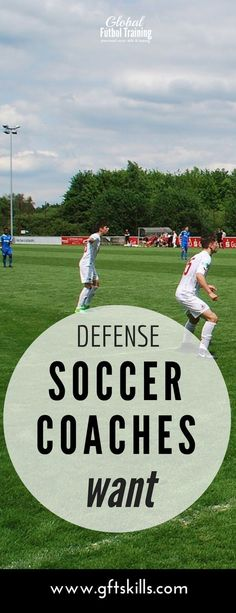 """Defending in soccer requires many things, one of which is staying goal side of your """"man"""". You don't see many goals scored when the defender stays goal side. If you are not goal side then you would allow the player you are marking to get an easy goal. Soccer Workouts, Soccer Drills, Soccer Coaching, Soccer Tips, Soccer Games, Soccer Training, Soccer Cleats, Volleyball Tips, Golf Tips"""