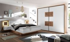 Modern Black and White Bedroom . Modern Black and White Bedroom . Home Ideas Modern White Bed Design Interesting Black and Contemporary Bedroom Furniture, Modern Bedroom Decor, Home Furniture, Bedroom Ideas, Living Room White, White Rooms, White Bedroom, Bedroom Brown, Modern White Bed