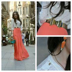 peachy maxi skirt!
