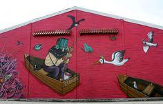 Juxtapoz Magazine - New Saner Mural in Mexico