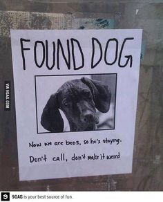 It may be your dog, but he stays.