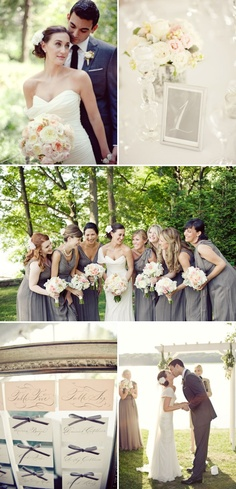 reworked Romona Keveza Classic New York Wedding by The Nichols Cute Wedding Dress, Fall Wedding Dresses, Colored Wedding Dresses, Perfect Wedding, Wedding Colors, Dream Wedding, Wedding Day, Wedding Themes, Wedding Decor