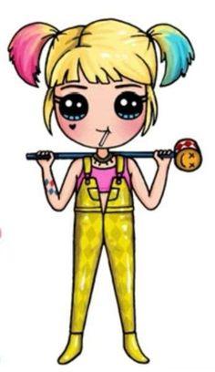 Kawaii Girl Drawings, Cute Animal Drawings Kawaii, Girl Drawing Sketches, Cute Easy Drawings, Cute Little Drawings, Cute Girl Drawing, Cute Cartoon Drawings, Griffonnages Kawaii, Cute Kawaii Girl