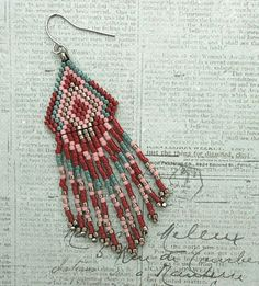 Linda's Crafty Inspirations: Playing with my Beads...Fringe Earrings #70 & #77