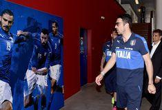 Gianluigi Buffon of Italy visits Casa Azzurri on June 9, 2016 in Montpellier, France.