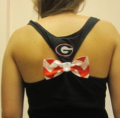 The Original Sports Bow Tank w/monogram by SewMuchFunEmbroidery Hair Makeup, Monogram, Bows, The Originals, Stylish, Trending Outfits, Unique Jewelry, Cute, Sports