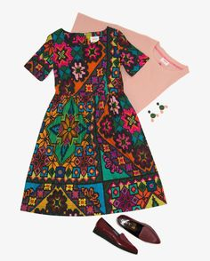 NEW this week! Our bold and bright ISTORIYA print captures the essence of cross stitch in a thoroughly modern way. Choose from a dress smock blouse or skirt in soft bamboo/cotton and welcome the new season in style. #obus #obusclothing #istoriya #ukraine #crossstitch #print #digitalprint #coloursful #colourfuldress #cutedress #ss17 #madeinmelbourne