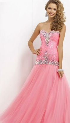 Long Pink Prom Dress Long Prom Dresses