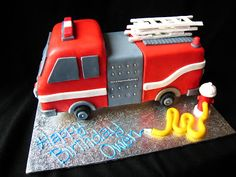 I was asked to do a firetruck cake-CARVED!- and will be using this as inspiration! Fireman Sam Birthday Cake, 3rd Birthday, Birthday Parties, Birthday Cakes, Fire Engine Cake, Fire Trucks, Cupcake Cakes, Cupcakes, Cake Decorating