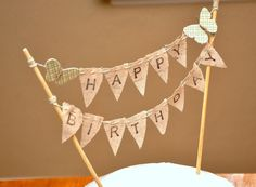 Butterflies and pretty bunting