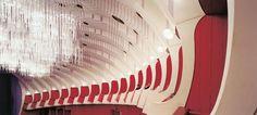 Carlo Mollino's Teatro Regio, Turino, Italia. Plexiglass lights by Gino Sarfatti