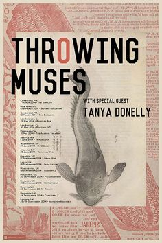 699aa04c65 Throwing Muses   Tanya Donelly 2014 Tour Gig Poster   4AD. Etsy