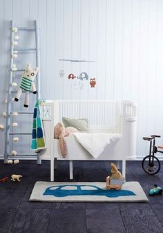 Adorable toddler room/nursery with unique statement pieces Baby Bedroom, Nursery Room, Kids Bedroom, Bedroom Ideas, Baby Rooms, Baby Decor, Kids Decor, Cool Bedrooms For Boys, Nursery Inspiration