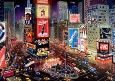 Alexander Chen - An Evening in Times Square