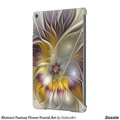Abstract Fantasy Flower Fractal Art Cover For iPad Air