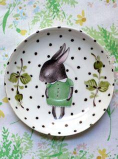 Cath Kidston Provence Rosa Cerámica Tazón de fuente de alimentación Medio//Grande