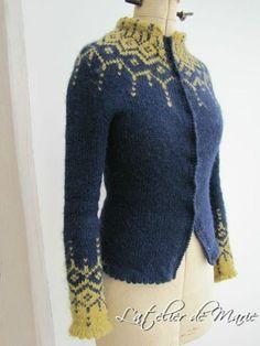 Lopi Hybride (no pattern) Fair Isle Knitting Patterns, Knitting Kits, Knit Patterns, Free Knitting, Icelandic Sweaters, Look Fashion, Knitwear, Knit Crochet, Cardigans