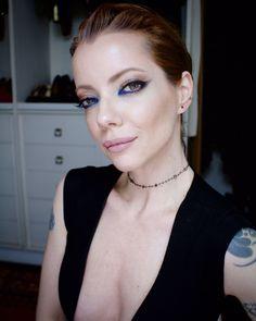 Delineado Preto e Azul Klein - Inspirada em Kristen Stewart - por Julia Petit