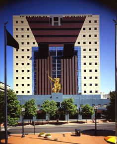 """""""The-Portland-Building-by-Michael-Graves"""" now listed as a National Register of Historic Places this building has sparked both controversy and emulation... with it's design influencing structures worldwide"""
