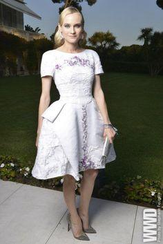 Diane Kruger in Chanel at the AmFar gala