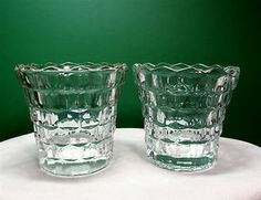 Indiana Glass •2• Whitehall Clear Crystal Votive Candle Holders Mint SOLD $14.99 + 8.85 sj