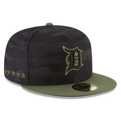 88df80ddc94 Men s Detroit Tigers New Era Black 2018 Memorial Day On-Field 59FIFTY Fitted  Hat