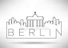 Resultado de imagen de SILUETA DE BERLIN LINEA
