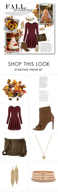"""""""Fall Wedding Guest"""" by lalalaballa22 on Polyvore featuring Improvements, Chicnova Fashion, Jérôme Dreyfuss, Carlos by Carlos Santana, Michael Kors, Capwell + Co, Rifle Paper Co and fallwedding"""