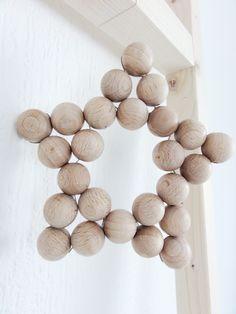 Holzkugelsternchen zur Deko oder als Untersetzer ♥