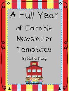FlapJack Educational Resources: FREE Editable Newsletter Template ...