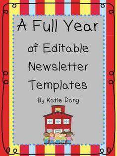 FREE Editable Newsletter Template | Classroom Organization ...